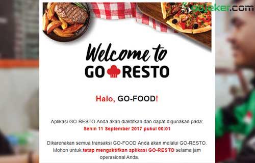 Aktivasi Go Resto