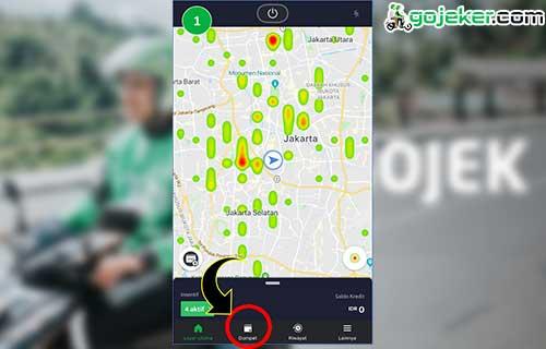 Buka aplikasi Grab Driver Lalu Masuk Menu Dompet