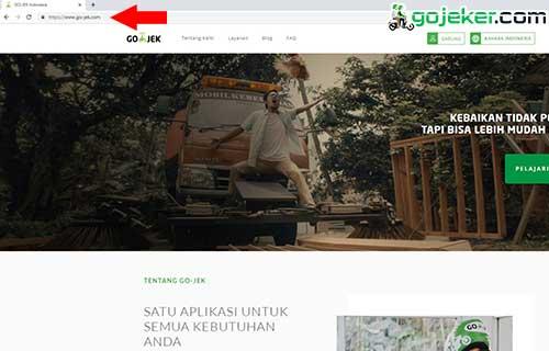 Buka situs resmi Gojek