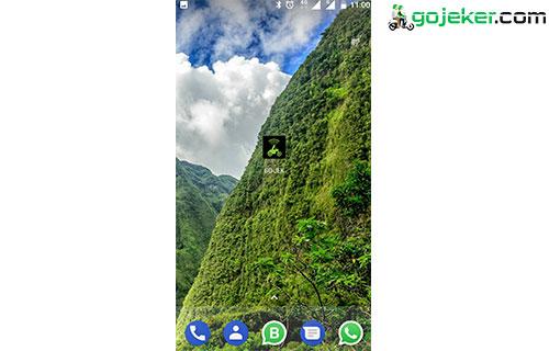 Lalu anda buka aplikasi Gojek