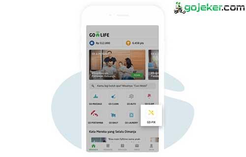 Buka aplikasi Go Life dan Pilih Go Fix