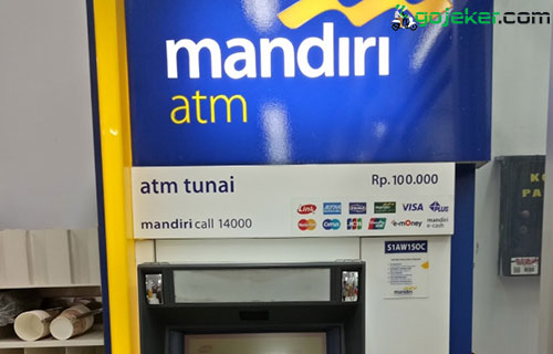 Cara Top Up Gojek Driver ATM Mandiri