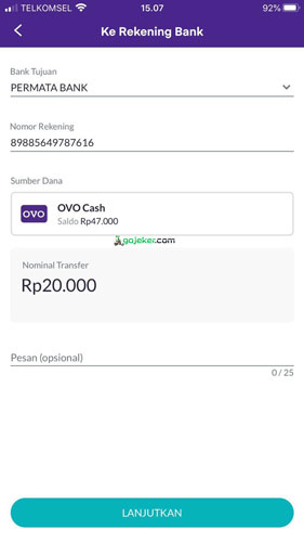 kode akun virtual Gopay Permata Bank