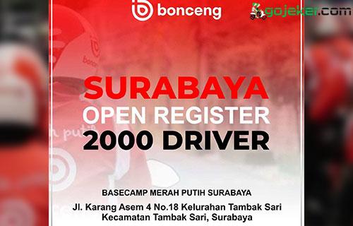 Cara Daftar Driver Bonceng di Surabaya