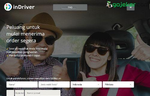 Cara Daftar InDriver Mobil