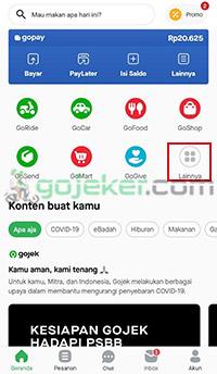 Jalankan aplikasi Gojek