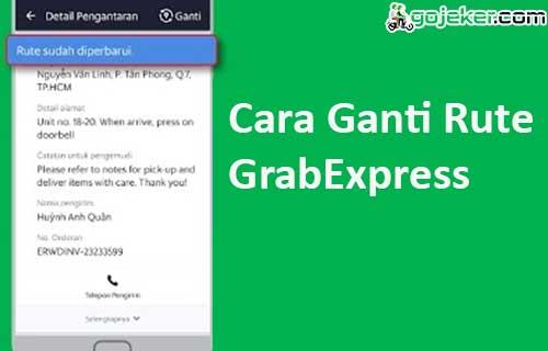 Cara Ganti Rute GrabExpress