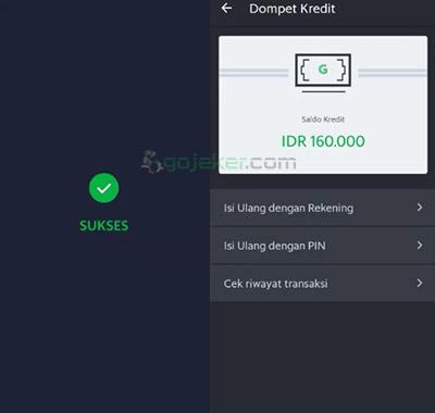 Cara isi Dompet Kredit Grab berhasil dilakukan
