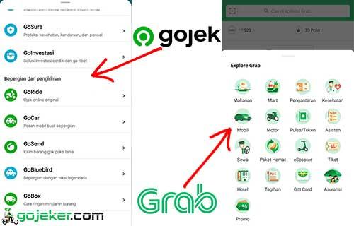 Perbedaan Layanan Gojek Dan Grab