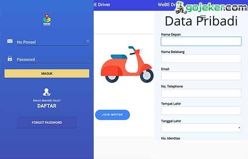 Cara Daftar WeBe Driver Ojek Online