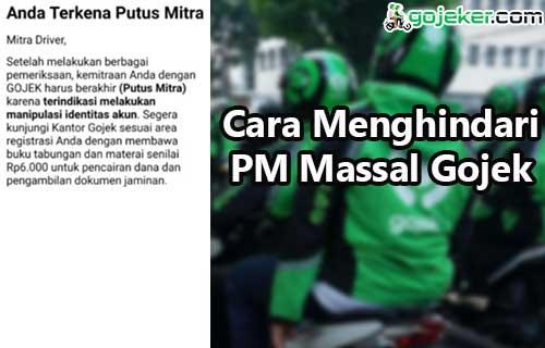 Cara Menghindari PM Massal Gojek Terbaru