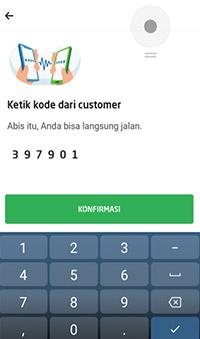 kode verifikasi pesanan