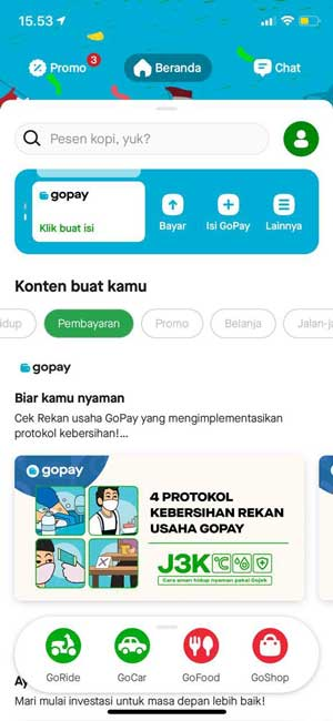 Buka Aplikasi Gojek