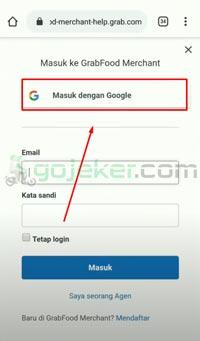 Masuk Dengan Google