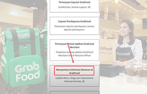 Memperbarui Informasi Restoran di Grabfood