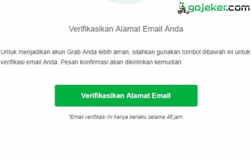 Cara Verifikasi Email di Grab