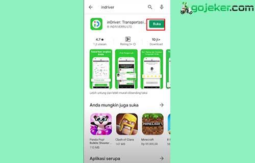 1 Download Aplikasi InDrver