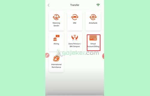 3 Klik Menu Virtual Account Billing