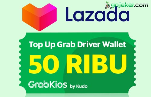 Cara Top Up Grab Driver Lewat Lazada