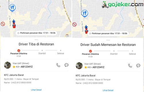 Cara Melihat Lokasi Driver Shopee Food