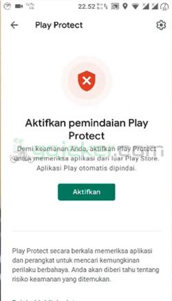 2 Nonaktifkan Play Protect