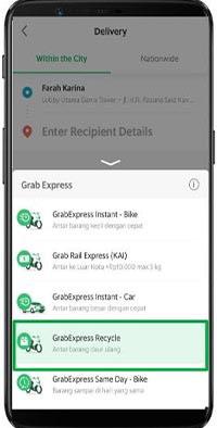 5 Pilih Layanan GrabExpress Recycle