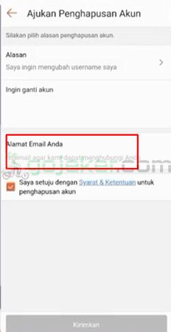 9 Masukkan Alamat Email Aktif
