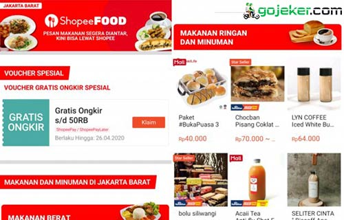 Aplikasi Shopee Food Error