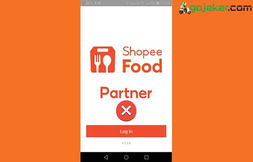 Aplikasi Shopee Food Partner Error