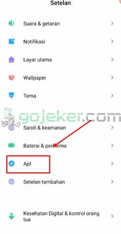 5 Klik Menu Aplikasi