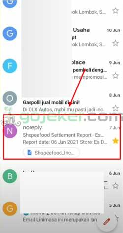 3 Cari Pesan Email Settlement