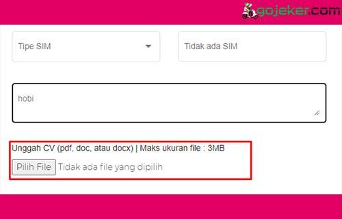 6 Upload File CV