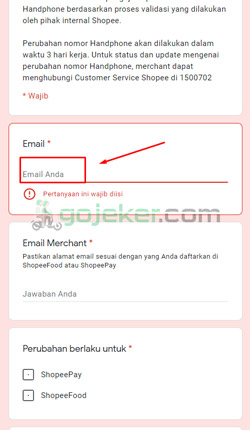 2 Isi Alamat Email