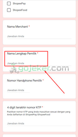 6 Nama Lengkap Pemilik