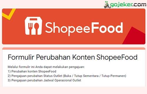 Cara Tambah Menu di Shopee Food