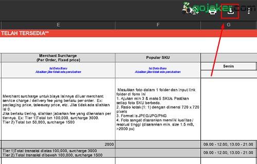 Download Formulir Menambah Menu di Shopee Food