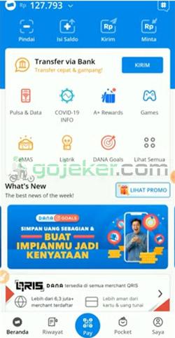 1 Buka Aplikasi DANA