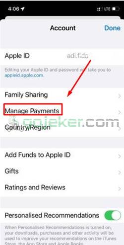 3 Klik Manage Payments