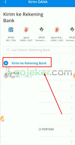 4 Tekan Tambah Ke Rekening Bank