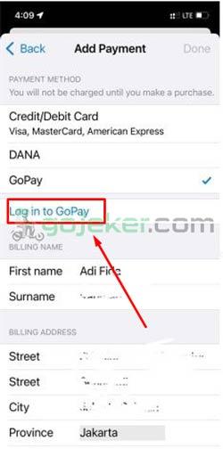 5 Tap Login To Gopay