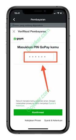 10 Input PIN Gopay