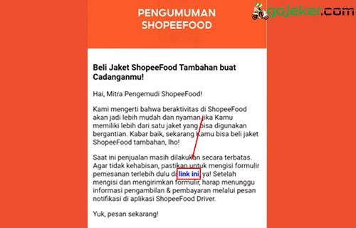 2 Klik Link Formulir Pemesanan